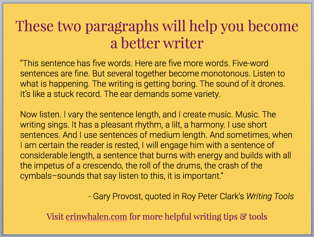 These two paragraphs will teach you how to be a better writer