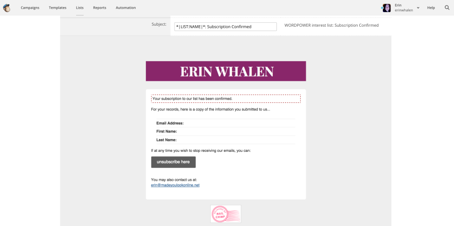 how to make a download email list link mailchimp